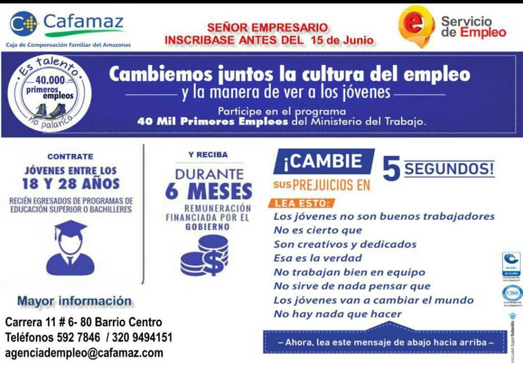 Cambiemos juntos la cultura del empleo