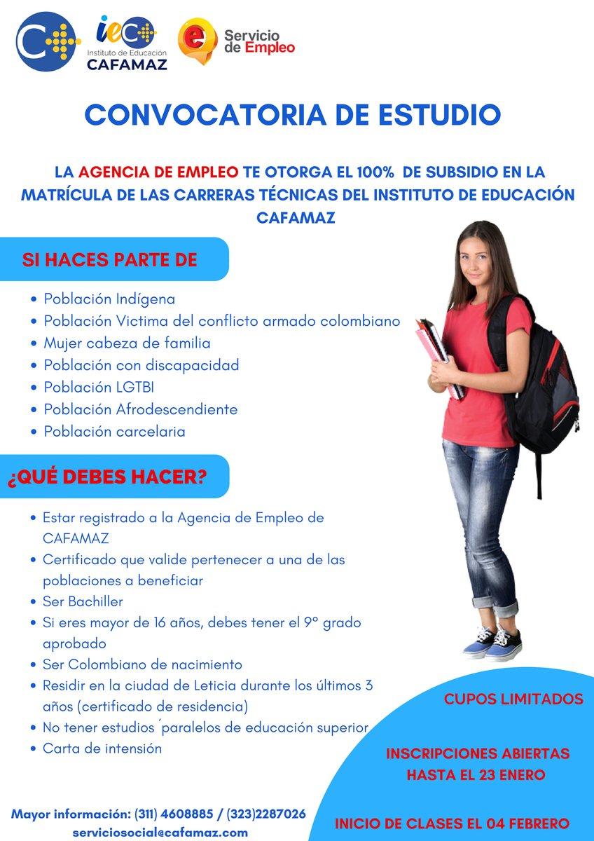 Subsidios estudiantiles en el Instituto de Educación CAFAMAZ