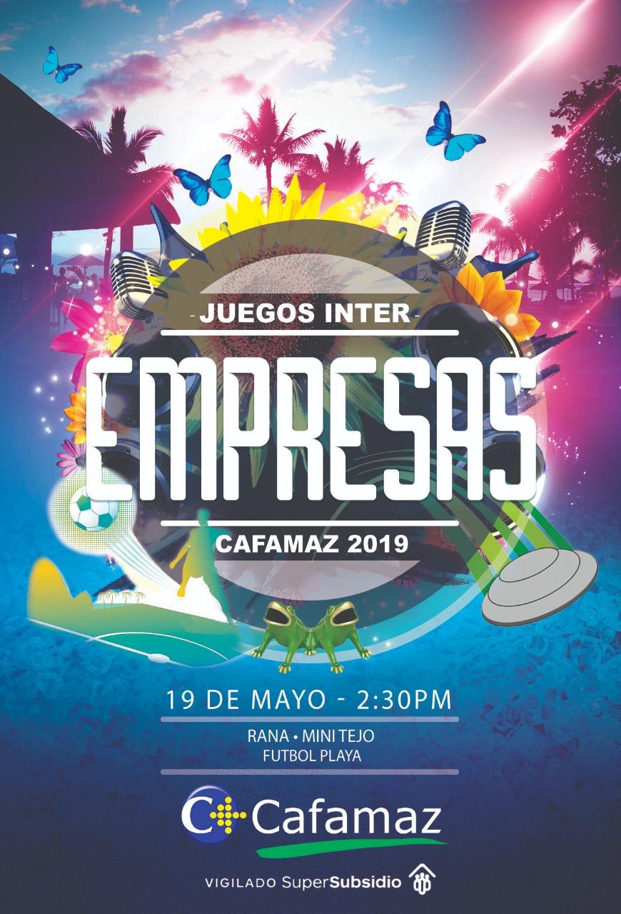 Programación Juegos Interempresas 2019 | CAFAMAZ