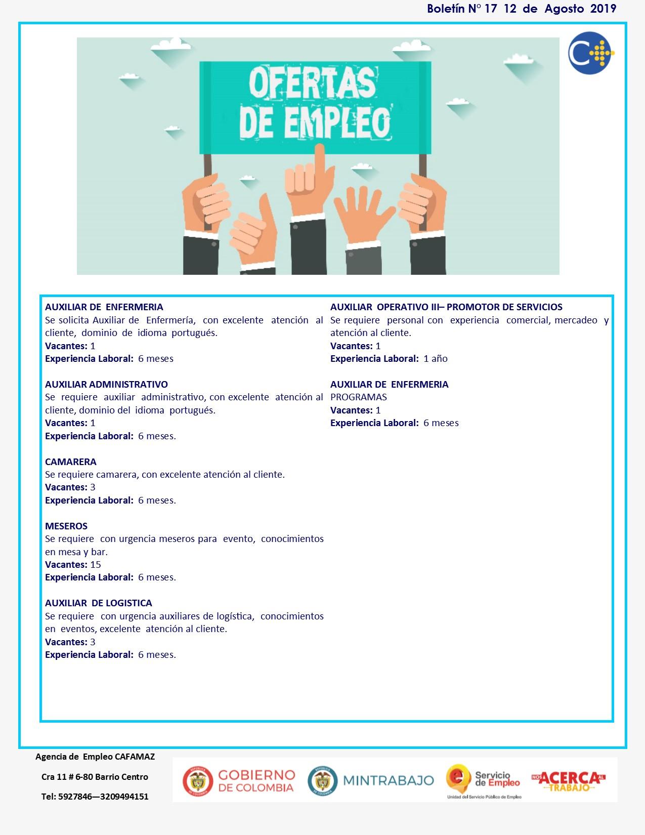 Boletin #17 | Agencia de Empleo