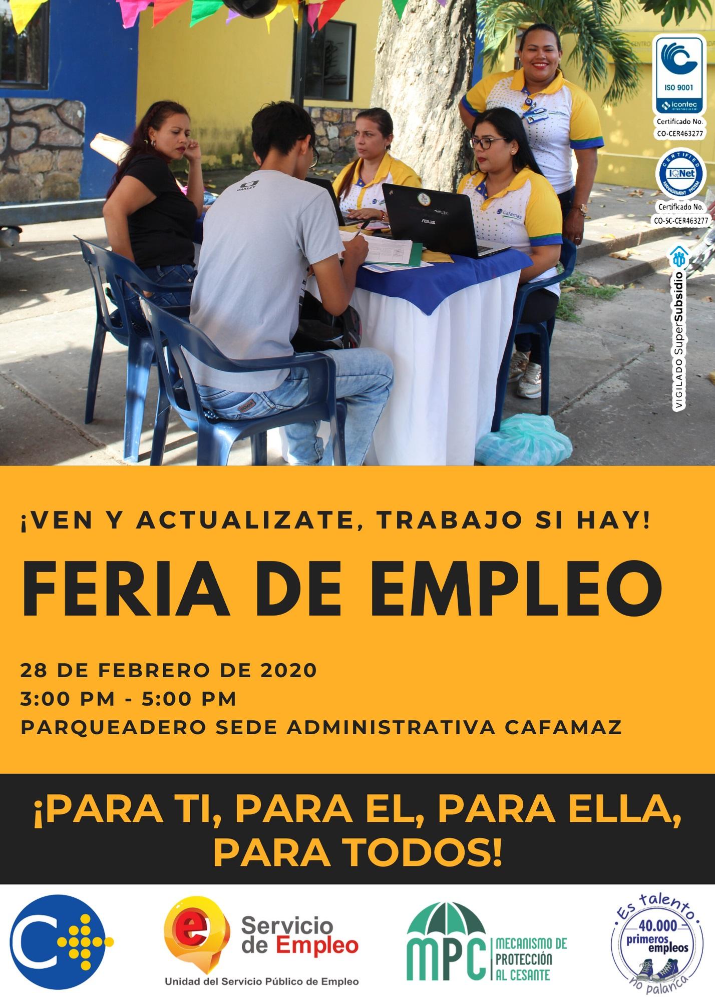 Feria de Empleo | Cafamaz, 2020