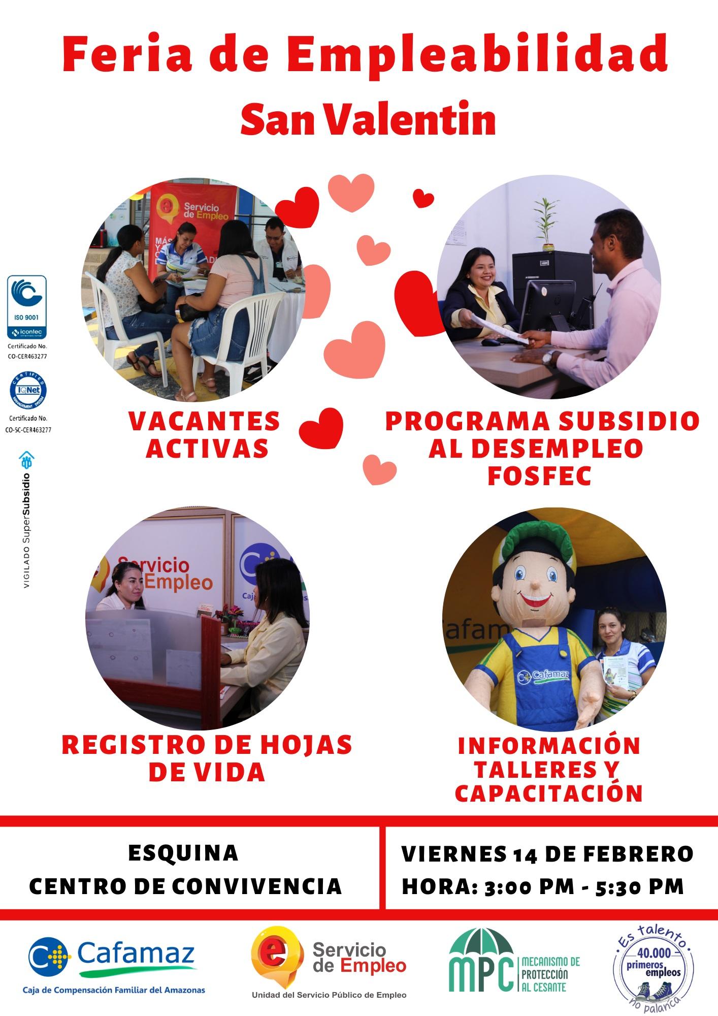 Feria de Empleo – San Valentín | Cafamaz, 2020