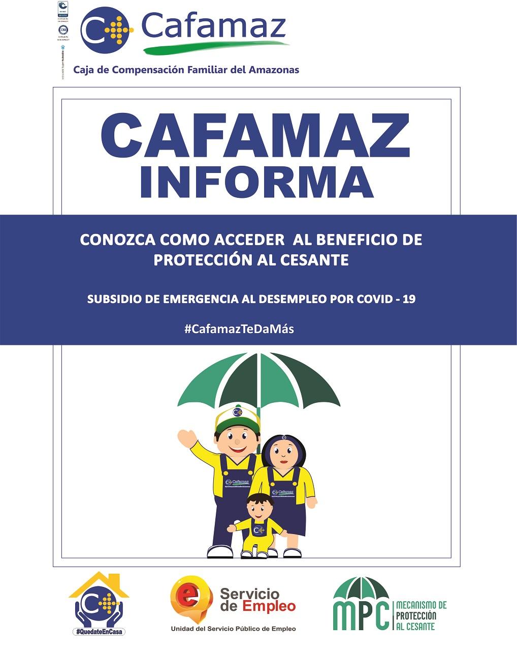 Subsidio de Emergencia al Desempleo por Covid-19   Cafamaz, 2020