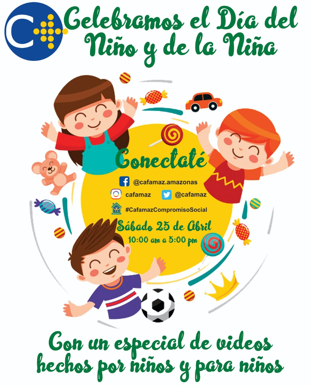 ¡Prográmate! Celebra el Día del Niño y de la Niña en nuestras Redes Sociales   Cafamaz, 2020