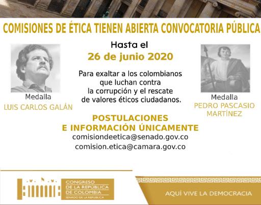 Convocatoria Pública | Comisiones de Ética del Congreso de la República