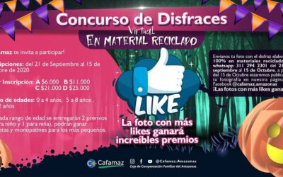 Concurso de Disfraces Virtual en Material Reciclado