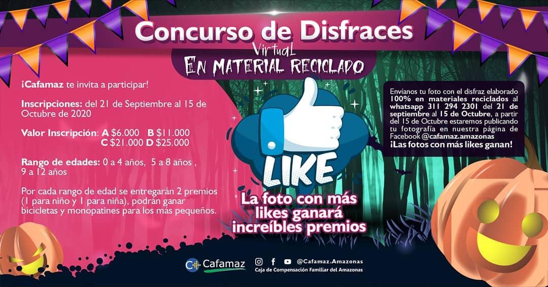 Concurso de Disfraces Virtual en Material Reciclado