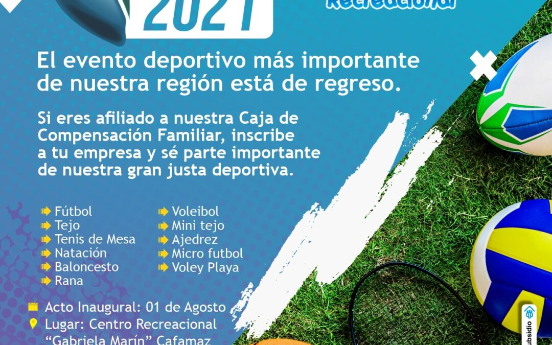 Juegos Regionales Interempresas 2021