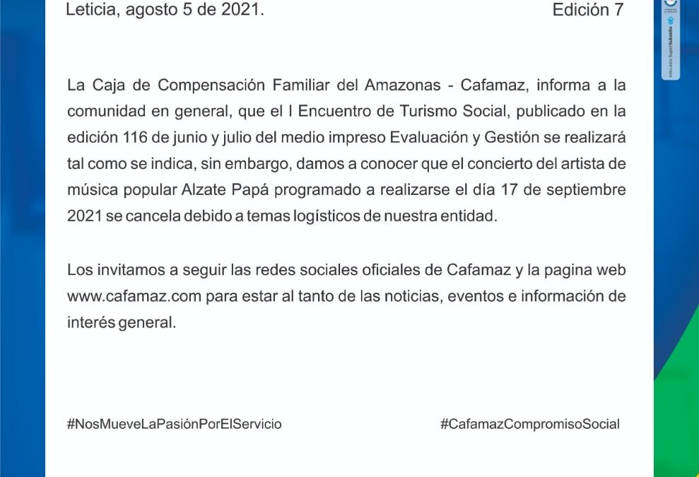 Boletín Informativo Edición 07 | Cafamaz, 2021